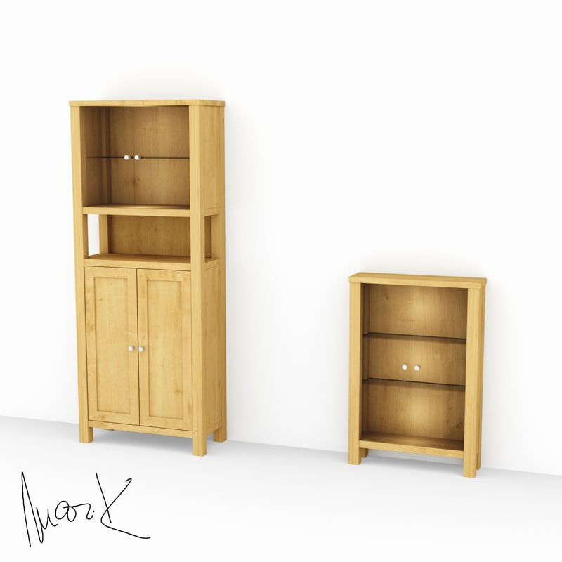 glazed chest drawers 3D model