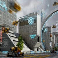 3D sci fi city metropolis