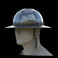 3D medieval knight kettle hat