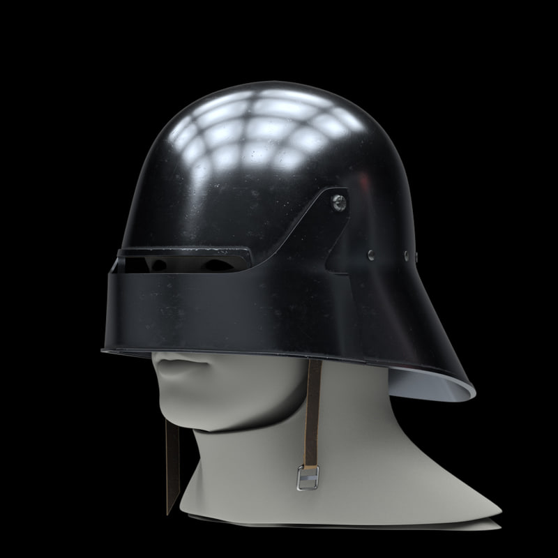 medieval knight sallet helmet 3D model