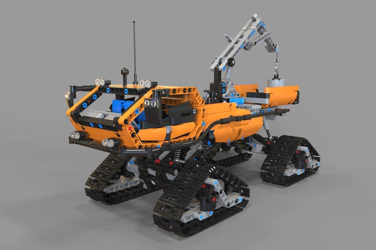 3D lego arctic truck