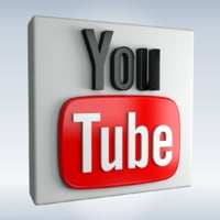 3D social icon youtube