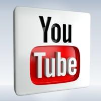 3D model social icon youtube