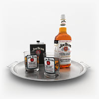 3D jim beam whiskey set