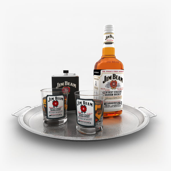 3D jim beam whiskey set