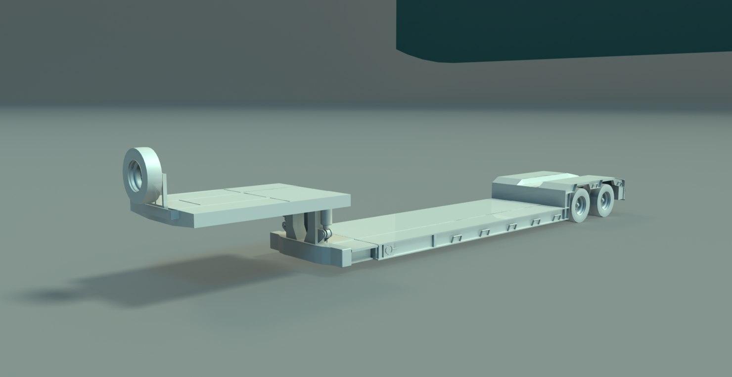 3D model deck trailer