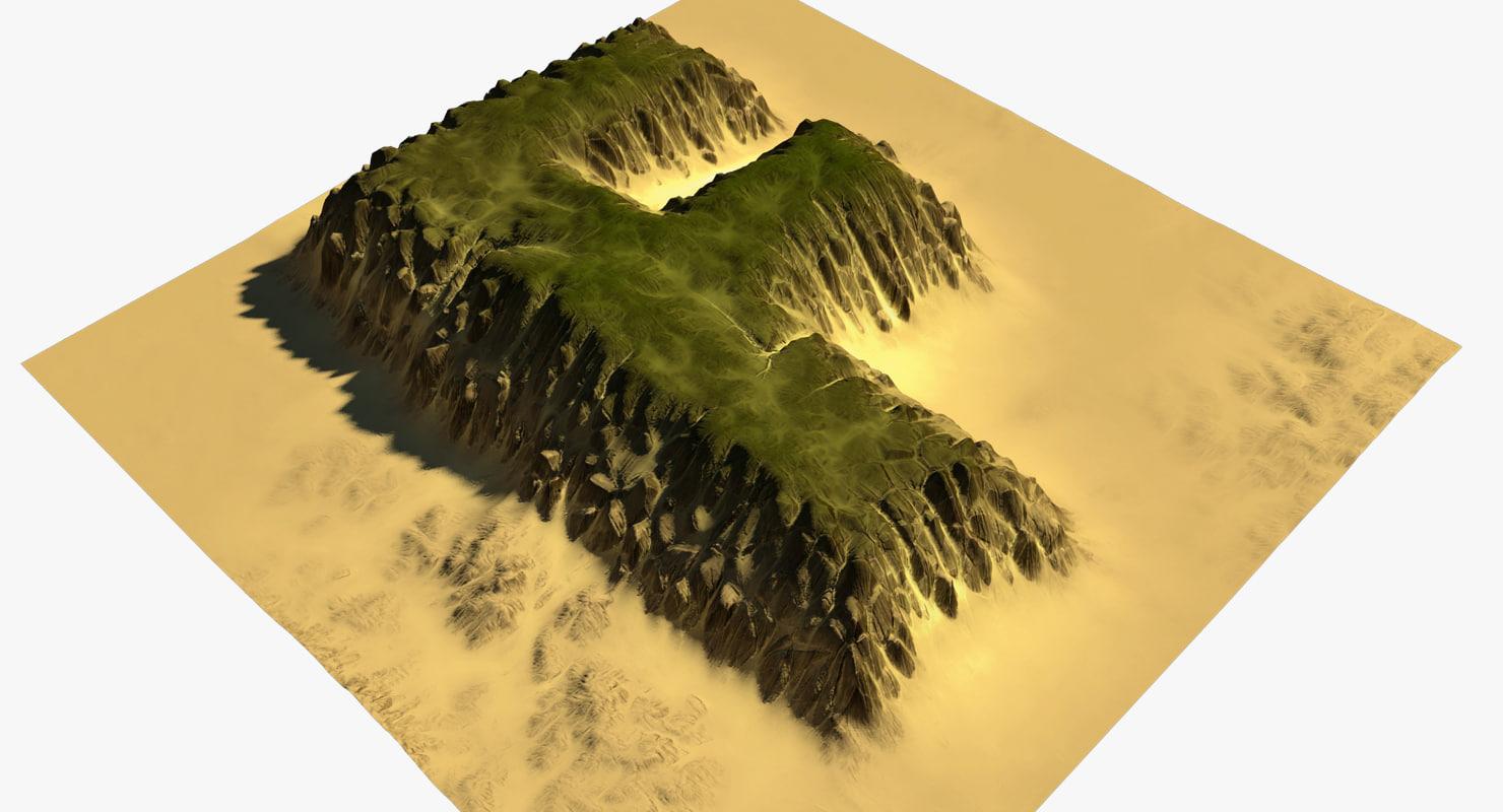 3D terrain f model