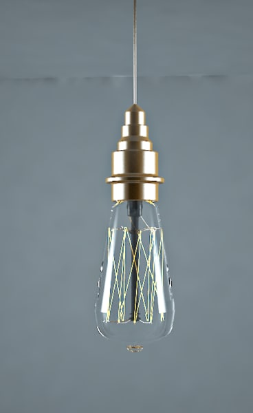 3D original vintage light