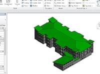 revit exterior architecture 3D model