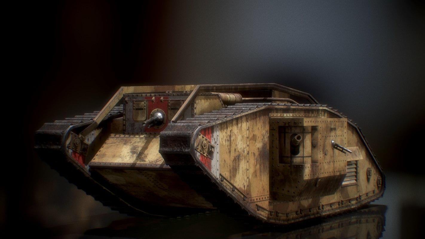 wwi tank 3D