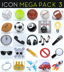 icon megapack 3D model