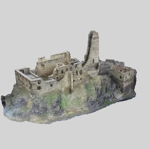 castle ruin model