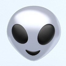 alien emoji 3D model