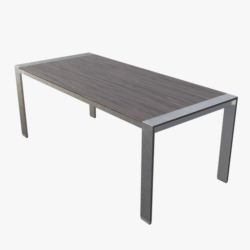 3D modern dining table 2 model