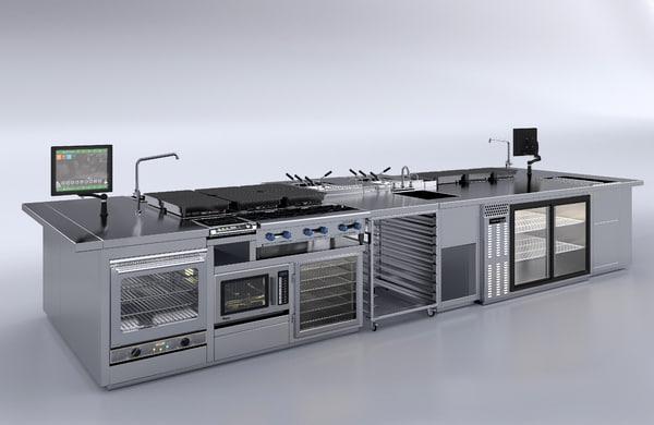 3D kitchen island