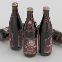3D beer bottle dunkel