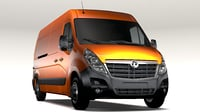 vauxhall movano l3h2 3D model