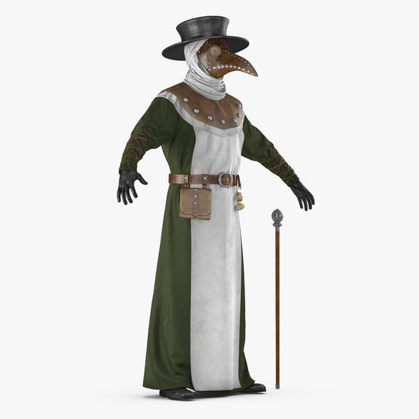 3D plague doctor model