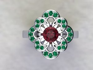 3D flower ring