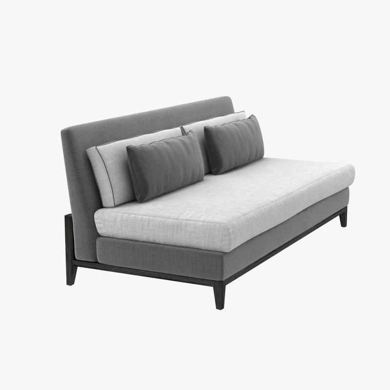 sofa custom armless pillows model