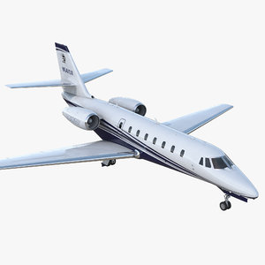 cessna 680 citation sovereign 3D model