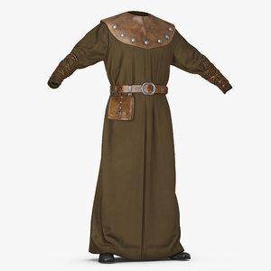 3D medieval clothes model