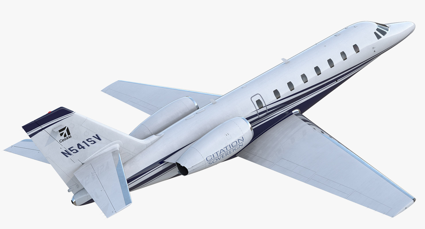 3D cessna 680 citation sovereign
