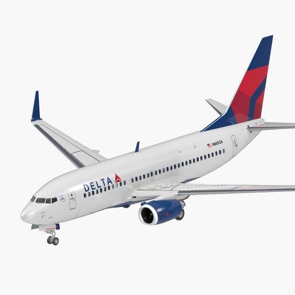 boeing 737-700 interior delta 3D