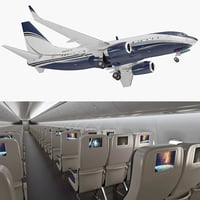 boeing 737-700 interior generic 3D model