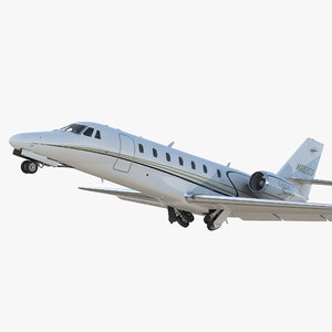 3D model business jet cessna 680