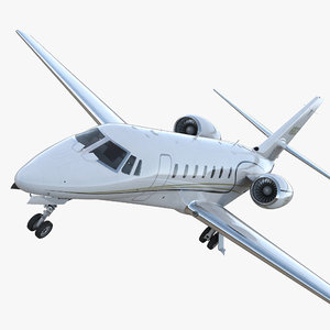 3D business jet cessna 680