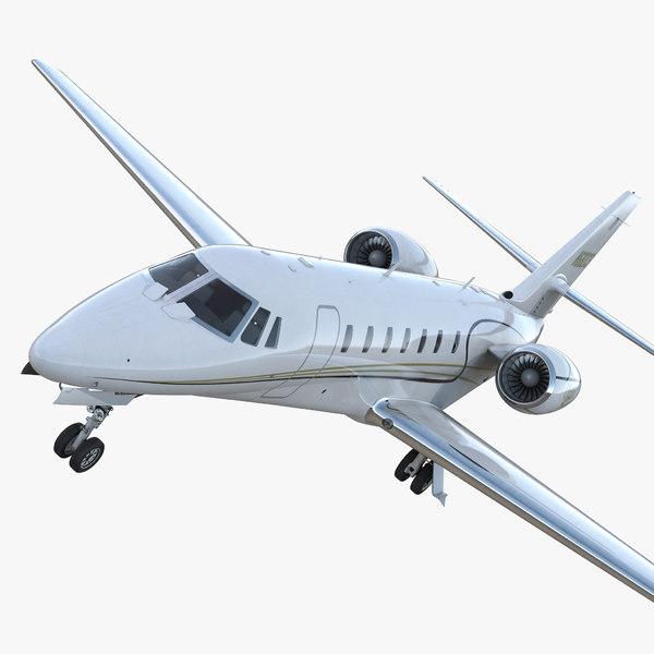 3D business jet cessna 680