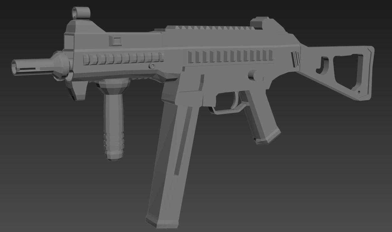 3D modelling gun model