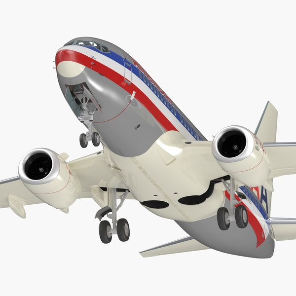 boeing 737-700 interior american airlines 3D model