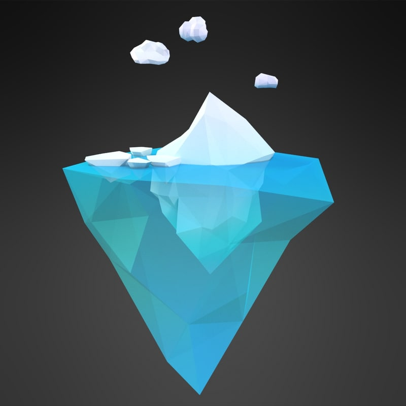 cartoon iceberg island 3D model