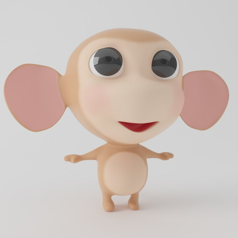 monkey cartoon toon 3D model