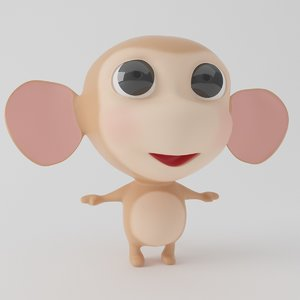 monkey cartoon toon 3D model