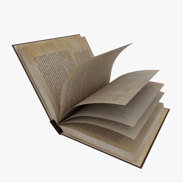 book rigged 3D model