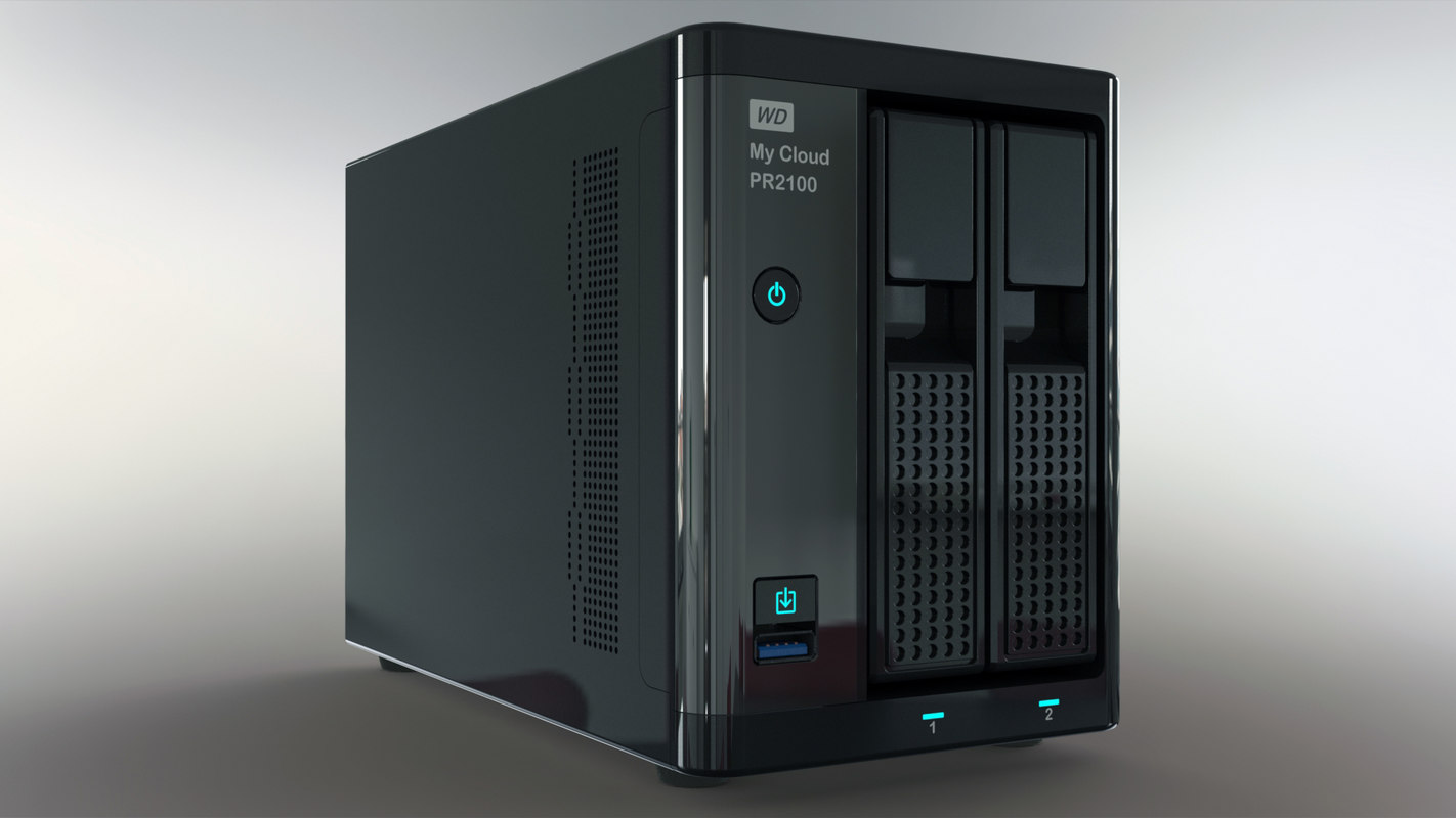 network storage wd cloud 3D
