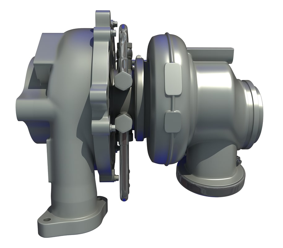engine turbo 3D model