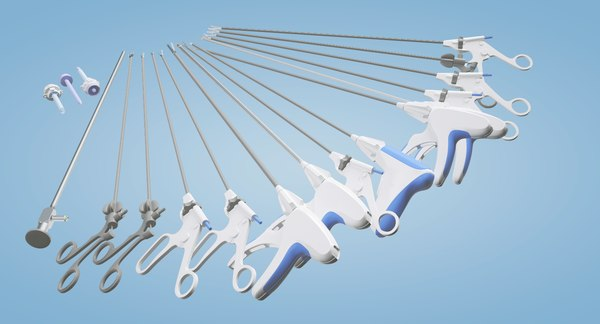 laparoscopic instruments 3D model