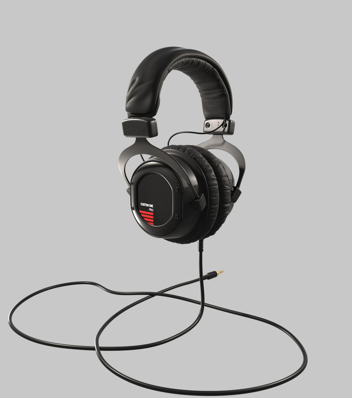 3D beyerdynamiccustomone headphones model