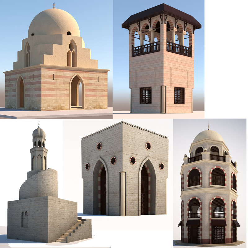 3D model islamic arabic buildings