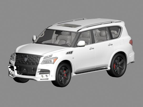 3D infiniti qx80 larte lr3 model