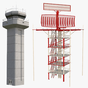 airfield radar control tower model