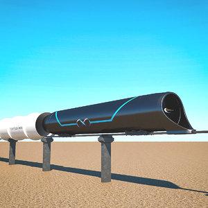 hyperloop 3D model