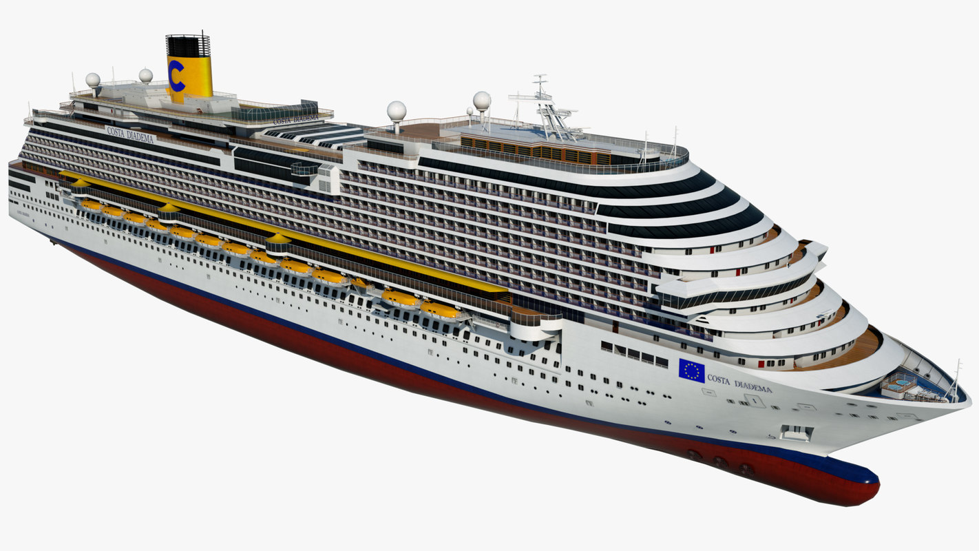 cruise costa diadema ship 3D model