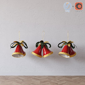 3D model christmas bell toy