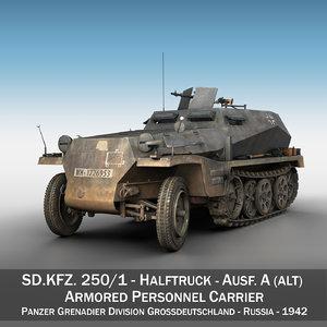 sd kfz 250 - model