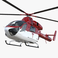 3D air ambulance helicopter md model